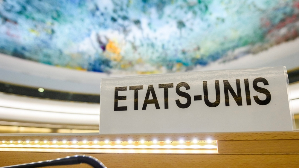 La salle du Conseil des droits de l'homme, à Genève, ne verra plus de représentant des Etats-Unis.