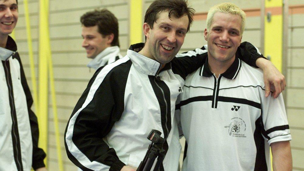Pavel Uvarov et Xavier Voirol il y a 16 ans: un symbole de l'alchimie entre «mercenaires» et joueurs locaux, qui perdure depuis trois décennies aux Crêtets.