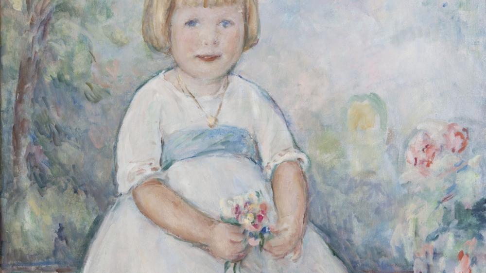«Portrait de fillette», 1919, huile sur toile,  84x74,5 cm  (détail).