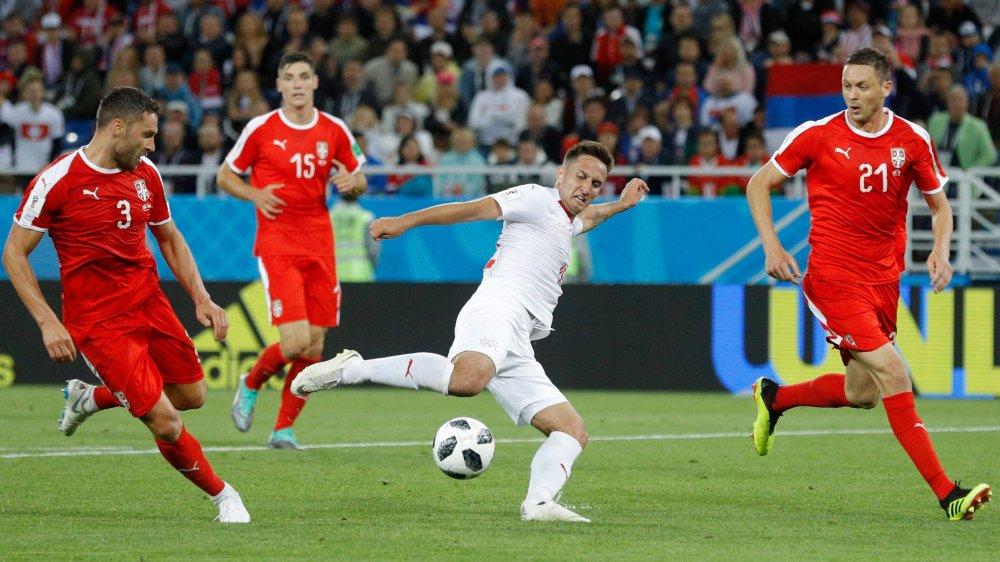 Passeur décisif face à la Serbie, Mario Gavranovic (en blanc), pourrait être titularisé ce soir face au Costa Rica.