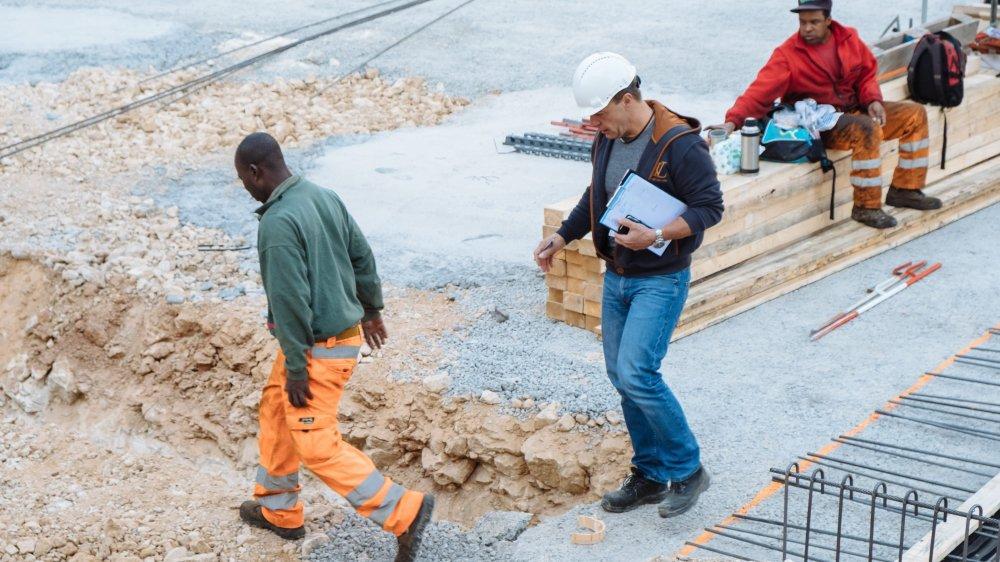 Controleurs de chantier   Corcelles, 17 10 2017  Photo: David Marchon