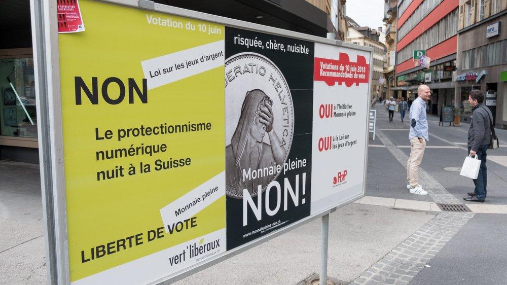 """Dans le canton de Neuchâtel, l'initiative """"Monnaie pleine"""" a obtenu ses meilleurs résultats dans les villes, avant tout."""