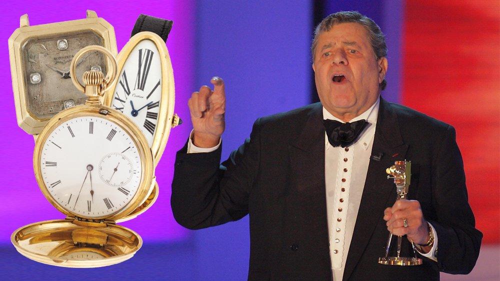 L'acteur américain Jerry Lewis lors de la remise des prix de la Caméra d'Or à  Berlin le 9 février 2005.