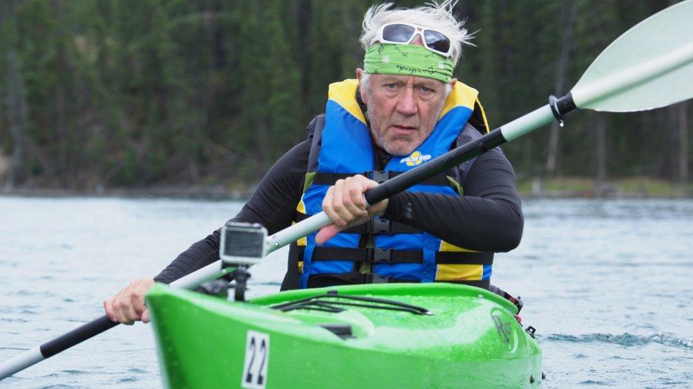 Jean-Philippe Patthey lors d'un repérage au Canada l'année passée. En Suisse, il s'est entraîné entre Villers-le-Lac et le Saut-du-Doubs.