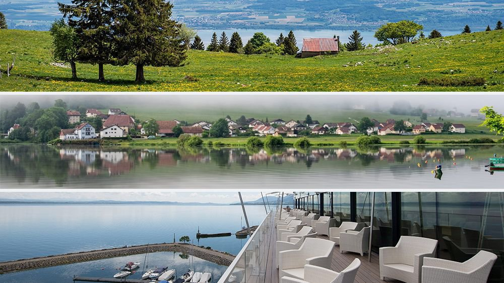 Depuis Gorgier, Villers-le-Lac ou Neuchâtel, la région s'offre à nos yeux.