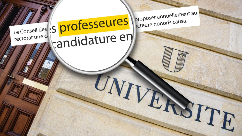 Les statuts de l'Université de Neuchâtel ont été totalement féminisés.