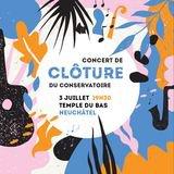 Concert de clôture du conservatoire de musique de Neuchâtel