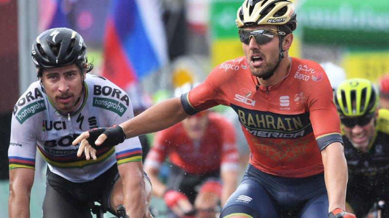 L'Italien (en orange) s'adjuge la 3e étape.