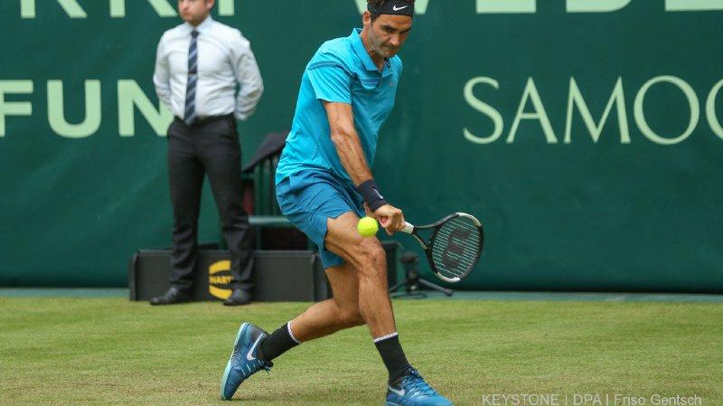 Tennis: Roger Federer s'impose contre le Slovène Aljaz Bedene au tournoi de Halle