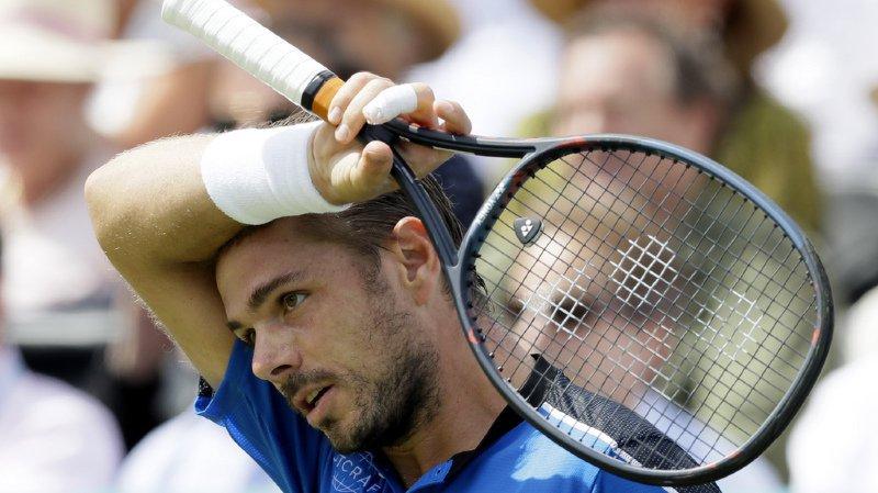 Tennis: Stan Wawrinka éliminé au deuxième tour du tournoi sur gazon du Queen's