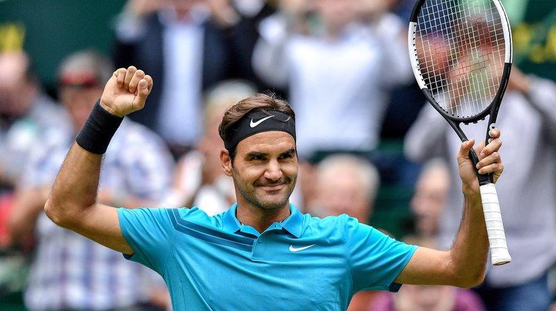 Tennis: Roger Federer en demi-finale à Halle