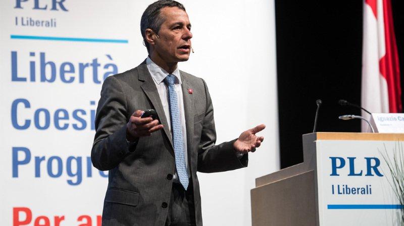Le conseiller fédéral Ignazio Cassis a été vertement critiqué par le président du PS.