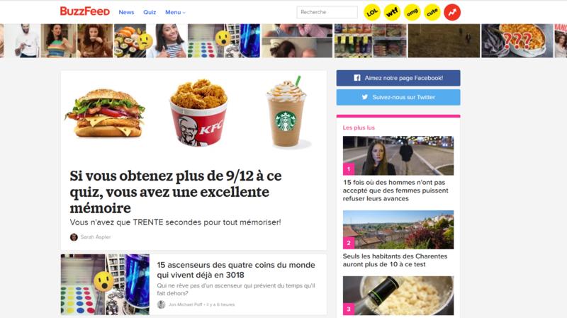Médias: BuzzFeed veut cesser son activité en France, 14 emplois menacés