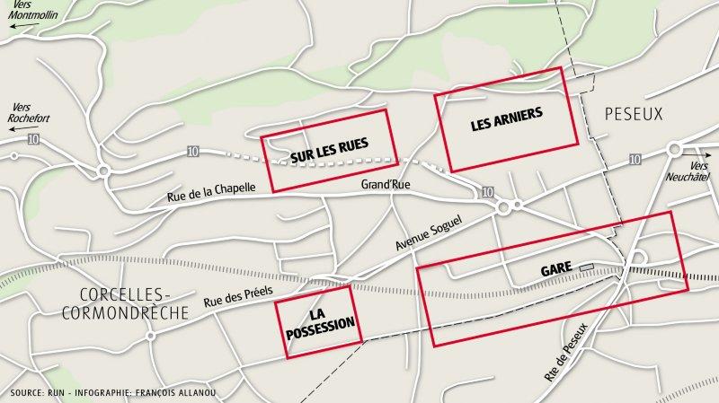 Où en sont les projets de quartiers d'habitation de Corcelles?