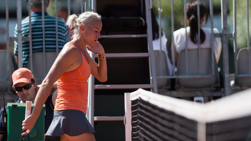 Conny Perrin a manqué la dernière marche à Wimbledon.