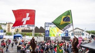 La fan zone neuchâteloise bouillonnante pour Brésil-Suisse