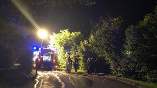 Une villa a pris feu à La Chaux-de-Fonds