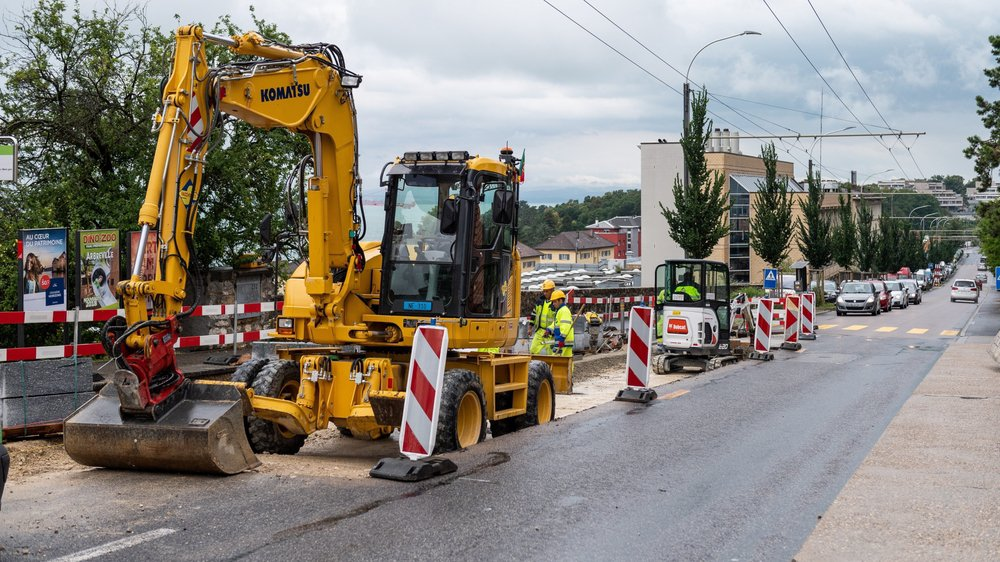 Les travaux de l'avenue du Vignoble, qui provoquent des suppressions de place de parc, ont fait réagir les habitants de La Coudre.