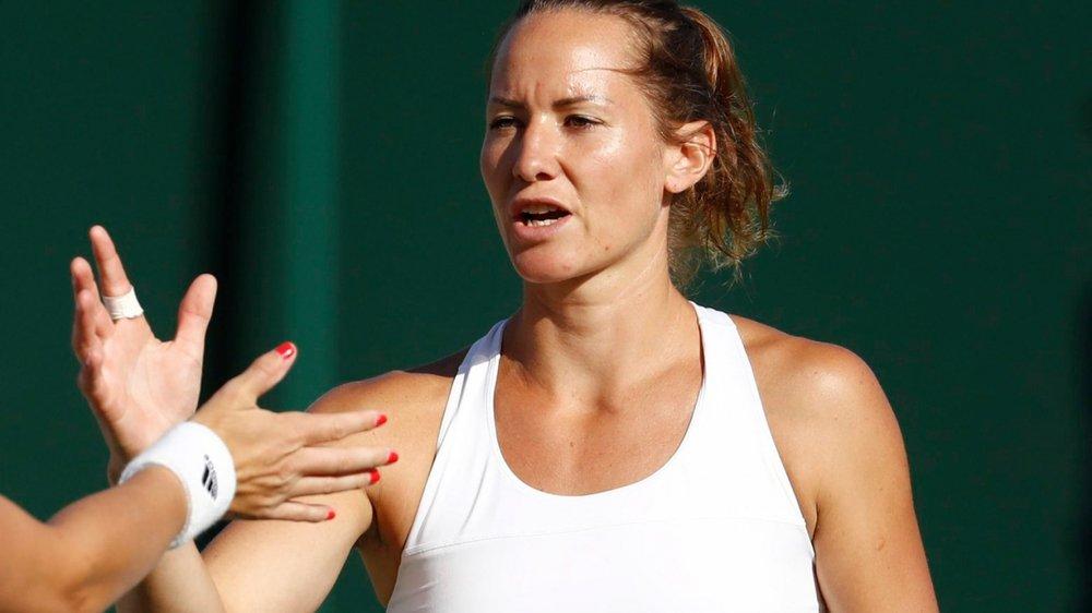 Conny Perrin quitte Wimbledon  la tête haute.