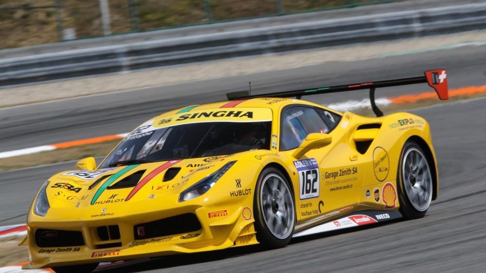 Au volant de sa Ferrari, Christophe Hurni a brillé à Brno.