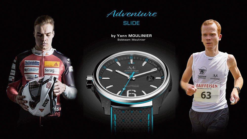 Yann Moulinier (à gauche) et Julien Fleury partagent la passion du sport, de l'art et de l'architecture. Le pilote de bob est parrain d'une montre de sport lancée par le second, designer et fondateur de la marque Montres duManège.