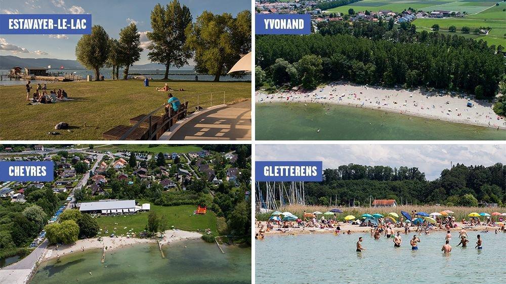 Estavayer-le-Lac, Yvonand, Cheyres et Gletterens font partie de notre sélection.