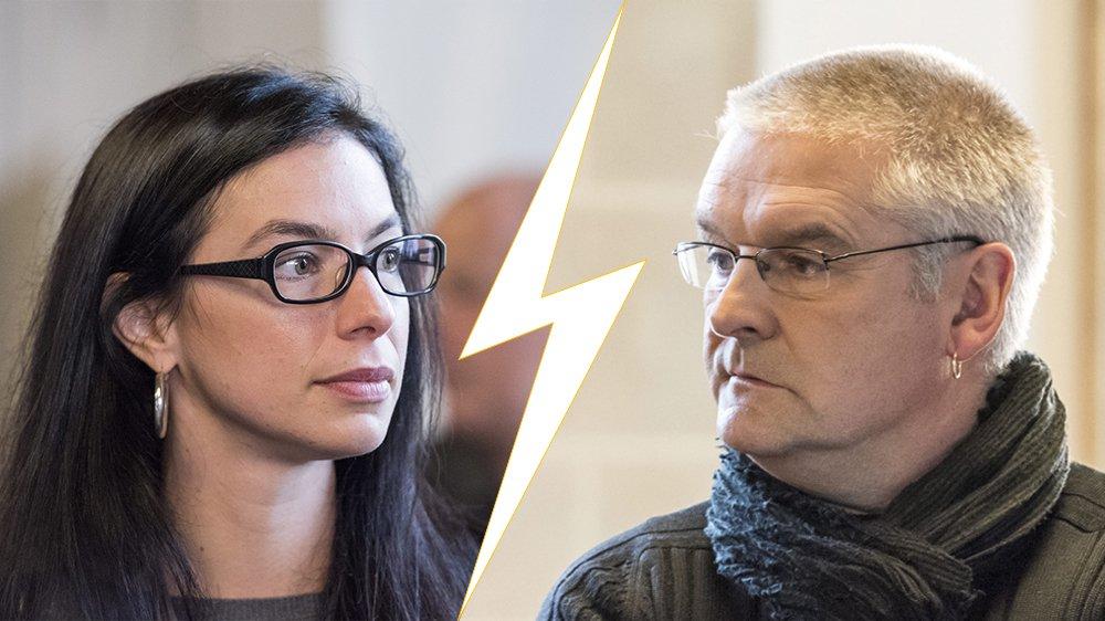 Céline Vara et Denis de la Reussille.
