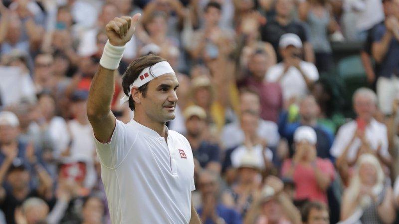 Tennis - Wimbledon: Roger Federer se débarrasse sans trembler de Mannarino et file en quarts