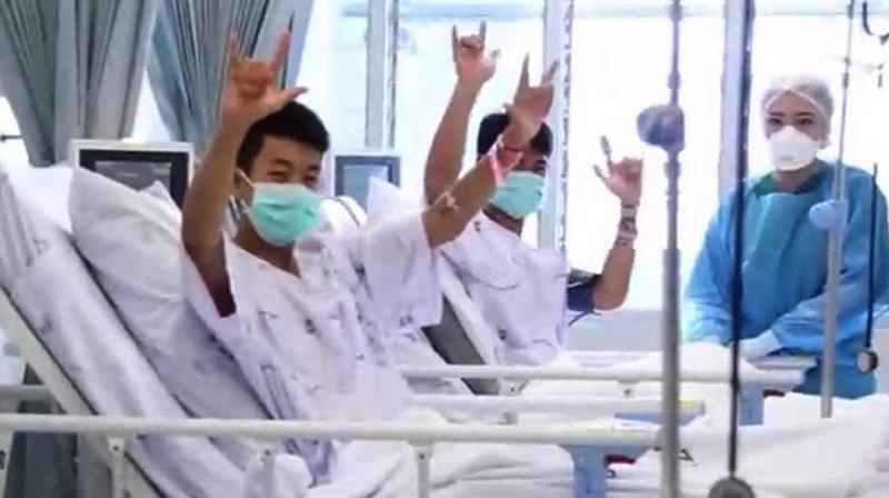 Les ados récupèrent désormais à l'hôpital de Chiang Rai, où ils ont été placés en quarantaine.