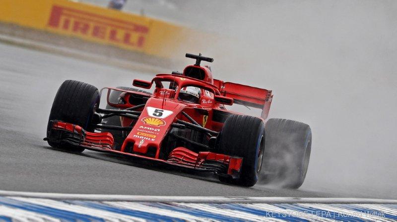 Sous la pluie d'Hockeheim, Sebastian Vettel a su tirer son épingle du jeu.