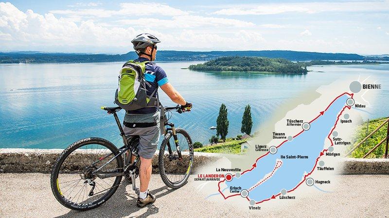Tour du lac de Bienne à vélo, la randonnée idéale de l'été