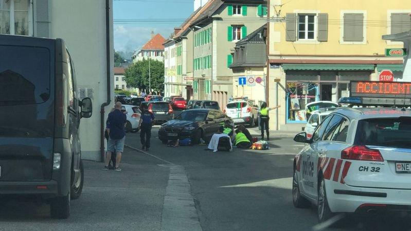 L'accident s'est produit ce mercredi après-midi à La Chaux-de-Fonds.