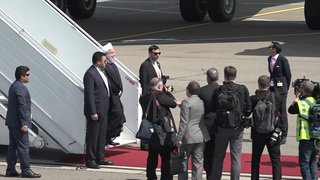 Visite d'Hassan Rohani: le président iranien a atterri en Suisse