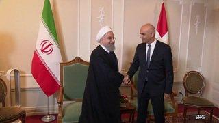 Visite d'Hassan Rohani: premières discussions entre le président iranien et Alain Berset