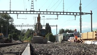 Interruption de lignes: visite du chantier de l'été des CFF