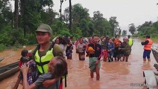 Des centaines de disparus après l'effondrement d'un barrage au Laos