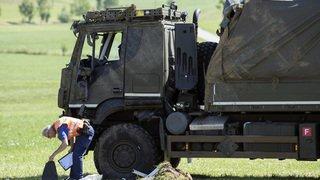Berne: l'accident d'un camion de l'armée à Linden fait deux blessés graves