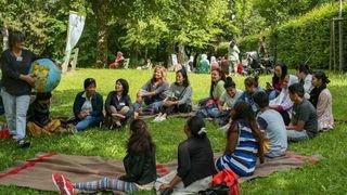 Cours de français en plein air à La Chaux-de-Fonds