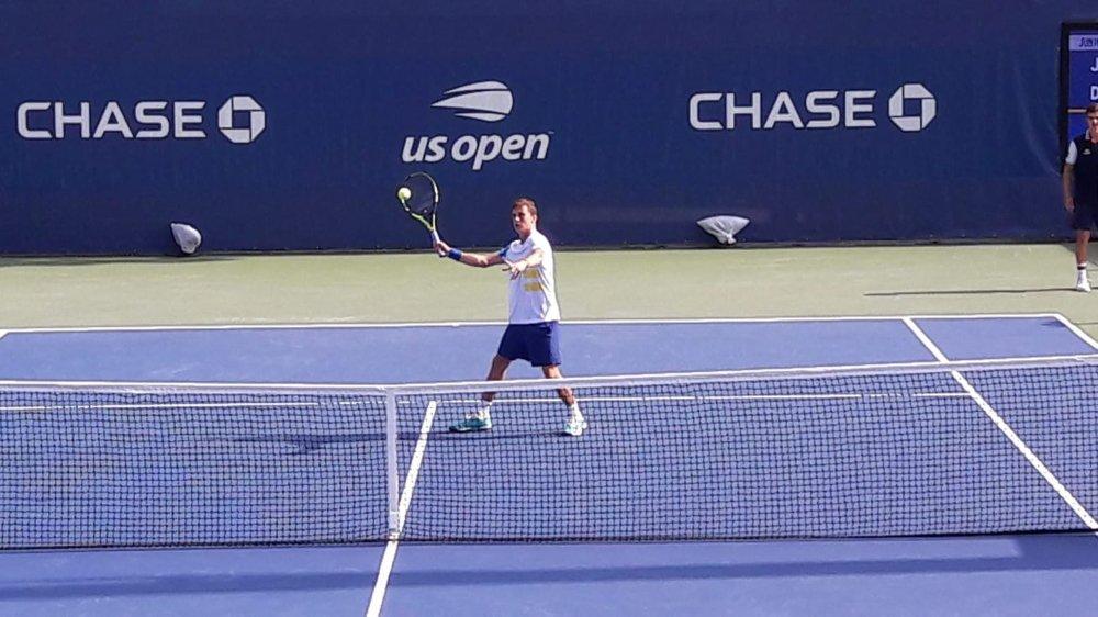 Damien Wenger a été dominé par l'Argentin Juan Manuel Cerundolo au premier tour de l'US Open juniors.