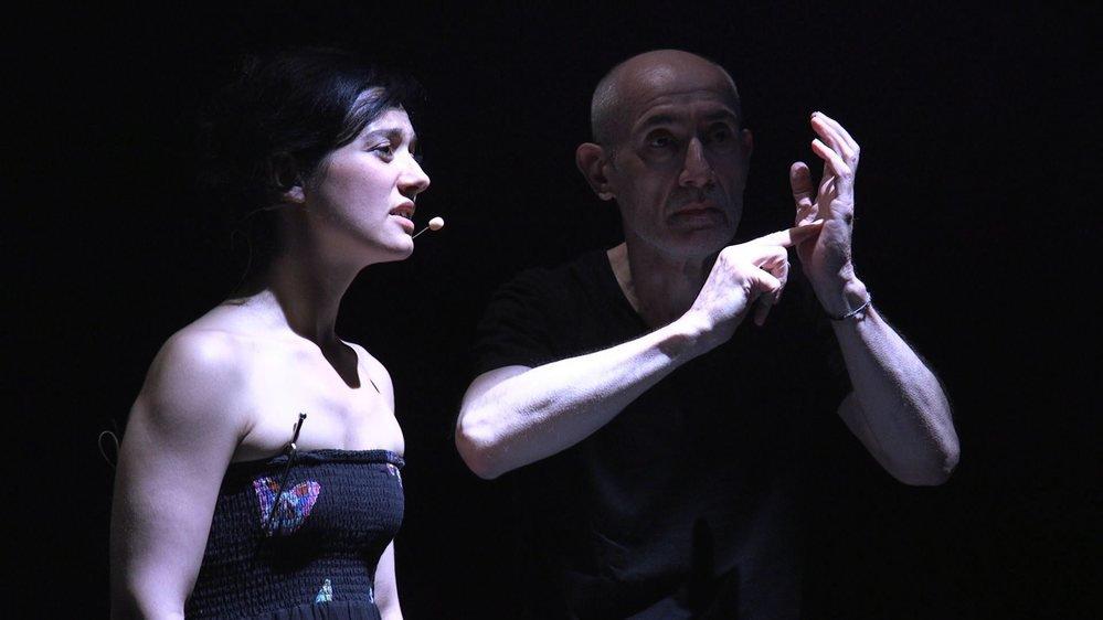 La soprano Clara Meloni et le compositeur Pierre Jodlowski donnent corps au texte d'Henri Michaux.