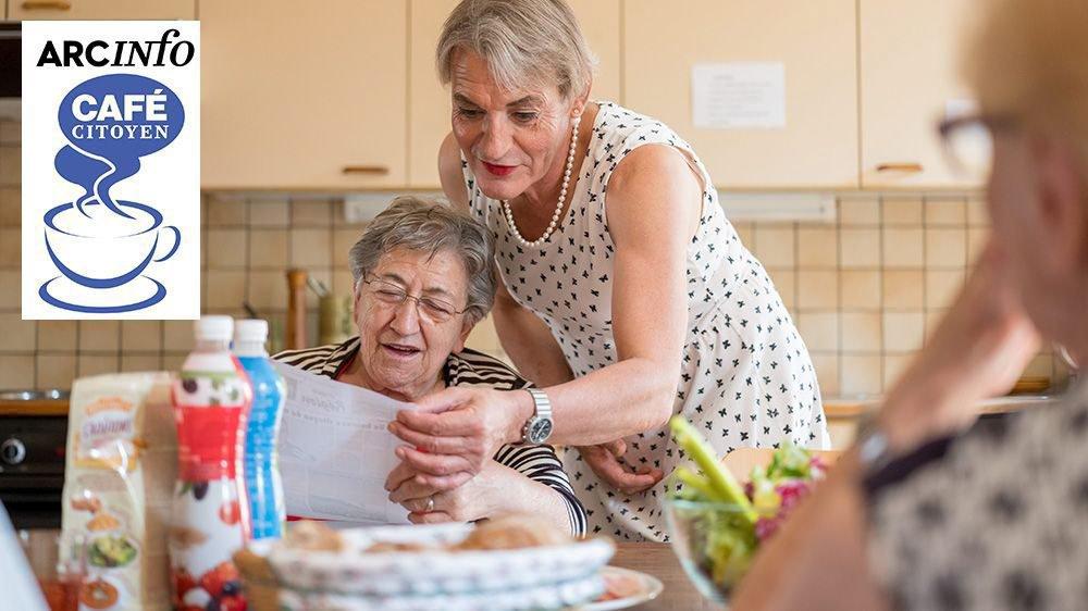 Patricia Sandoz, transgenre en transformation, personnalité atypique qui encadre des personnes âgées.