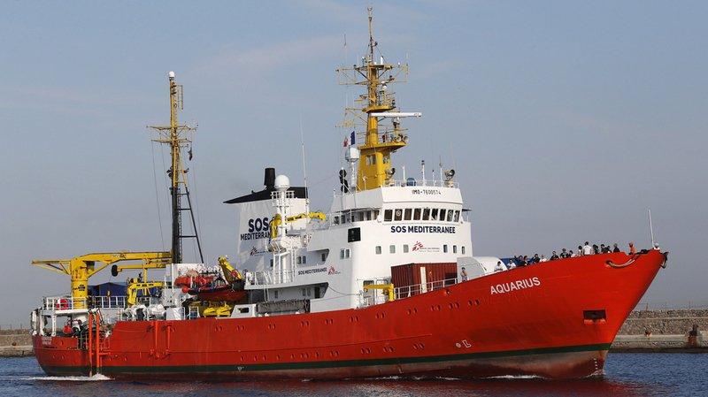 Crise migratoire: le navire humanitaire l'Aquarius est de nouveau à la recherche d'un port d'accueil