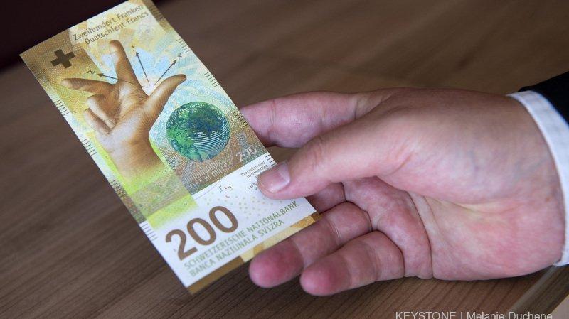 Le nouveau billet de 200 francs est mis en circulation ce mercredi