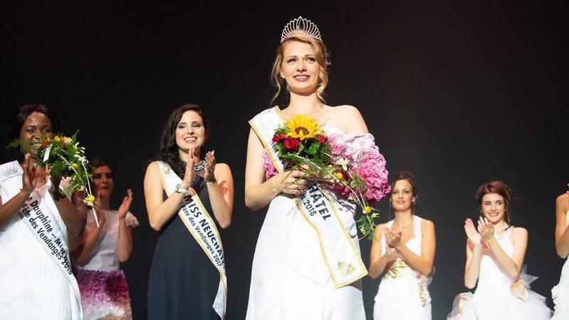 Estelle Calame-Rosset élue Miss Neuchâtel-Fête des vendanges 2018