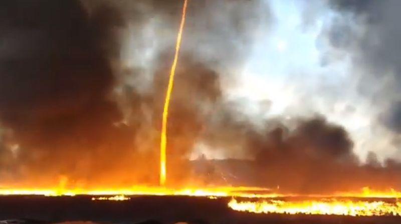 Angleterre: gigantesque tornade de feu lors d'un incendie