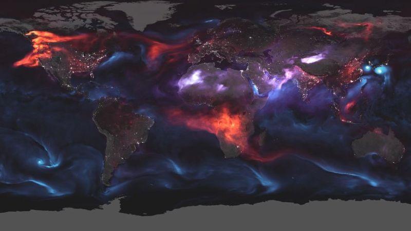 Incendies, cyclones et tempêtes de sable vus de l'espace
