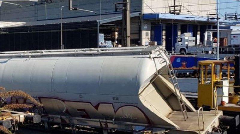 Bâle: un train de marchandise déraille dans la gare de triage