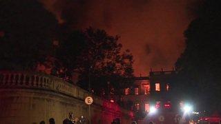 Brésil: un incendie ravage le Musée National de Rio de Janeiro