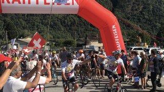 Les cyclotouristes partis de la Brévine mercredi sont arrivés à Grono, après 333 kilomètres à travers les Alpes