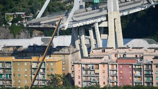 Déblaiement interrompu à Gênes